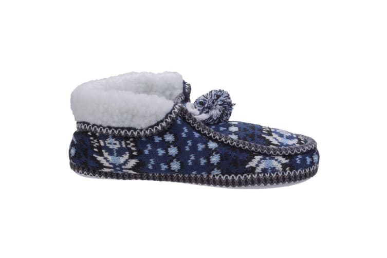 Divaz Womens/Ladies Lapland Knitted Slippers (Blue) (Large)