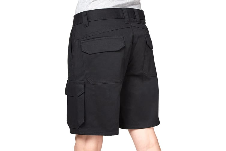 Hard Yakka Women's Foundations Drill Cargo Short (Black, Size 18)