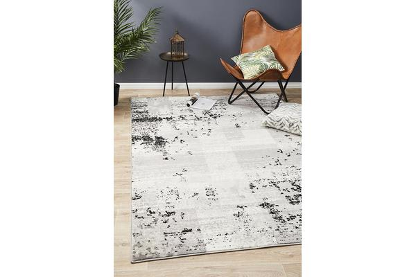 Felicia Grey & Charcoal Soft Abstract Rug 330x240cm