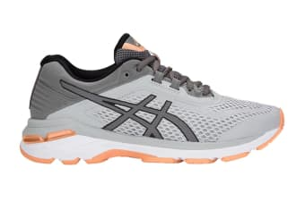 ASICS Women's GT-2000 6 Running Shoe (Mid Grey/Carbon Size 6)