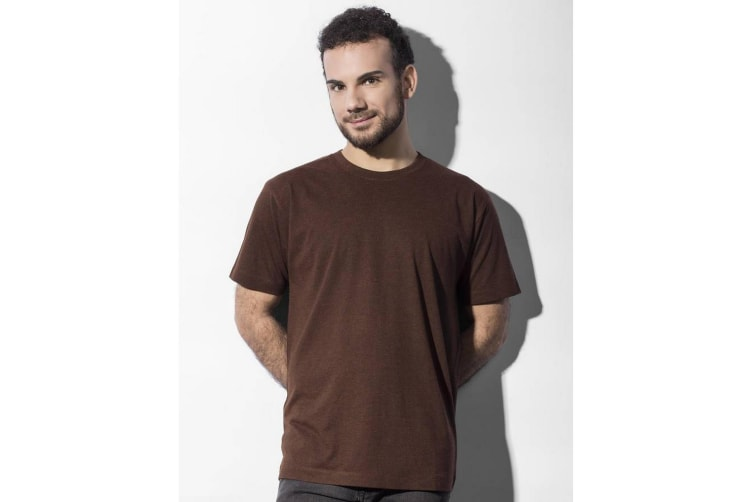 Nakedshirt Mens Larry Triblend T-Shirt (Double Dyed Flame) (M)