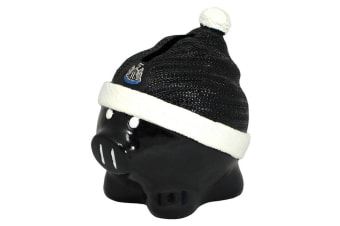 Newcastle United FC Official Ceramic Football Beanie Hat Piggy Bank (Black/White)