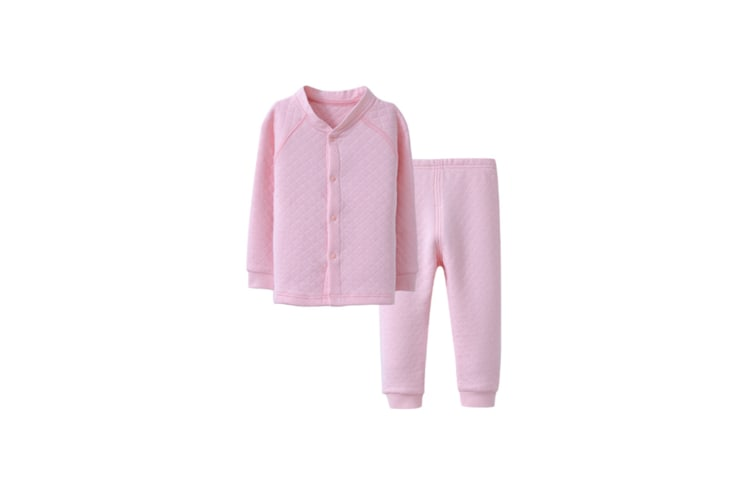 Girls Baby Boys Girls Cotton Clothing Set Pajama Set Long Pants Outfit  90cm