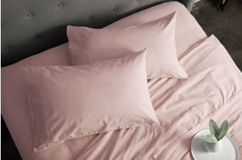Sheraton Luxury 160gsm Flannelette Sheet Set (Queen/Cameo Pink)