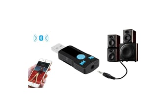 Bluetooth USB Receiver Hands Free Kit w/ Audio Output/Micro SD Slot/Mic Control