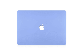 "Hard Case Cover for Apple Macbook Pro 13"" Inch  A1708-Matte Clear-Cornflower Blue"