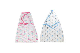 2PC Playette Comfort Swaddle Wrap Bed Blanket/Quilt Baby/Kids/Children Pink/Blue