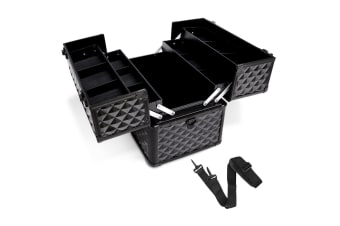Portable Beauty Makeup Case Diamond (Black)