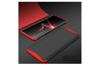 Frosted Shield Matte Plastic Ultra Thin Shockproof Case For Oppo Red+Black R11S Plus