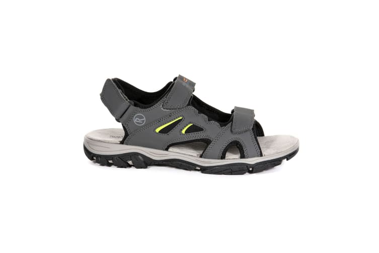 Regatta Mens Holcombe Vent Sandals (Briar Grey/Lime Punch) (9 UK)