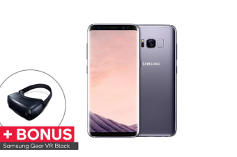 Samsung Galaxy S8+ (64GB, Orchid Grey) VR Bundle - Australian Model