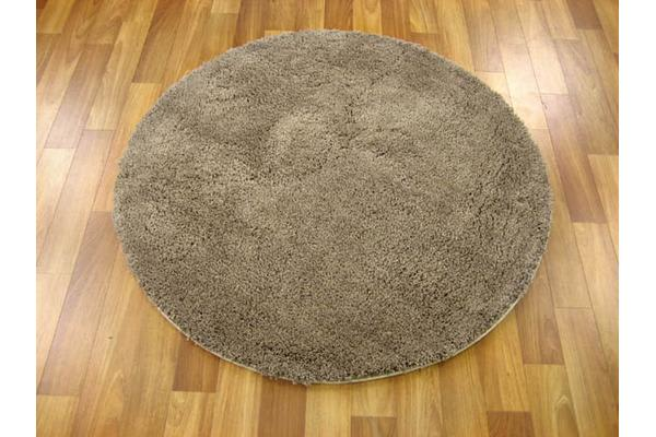 Pack of 3 Freckles Round Shag Rugs Beige 60x60cm