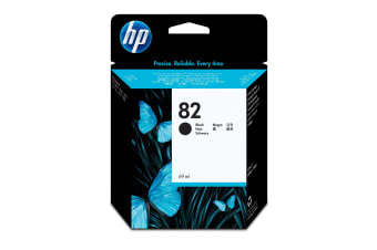 New Genuine HP 82 69ml Black DesignJet Ink Cartridge