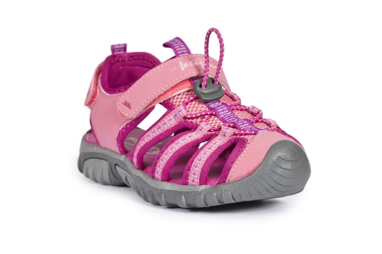 Trespass Childrens/Kids Nantucket Active Closed Toe Beach Sandals (Cotton Candy) (2 Youth UK)