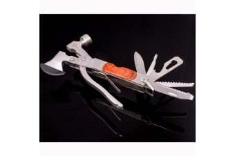 Bush Owl 11 Function Pocket Multi Tool Knife Pliers Saw Hatchet Axe Kit New