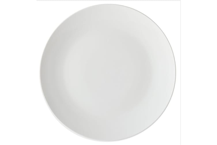 4pc Maxwell & Williams White Basics Round Porcelain 19cm Coupe Side Plate Set