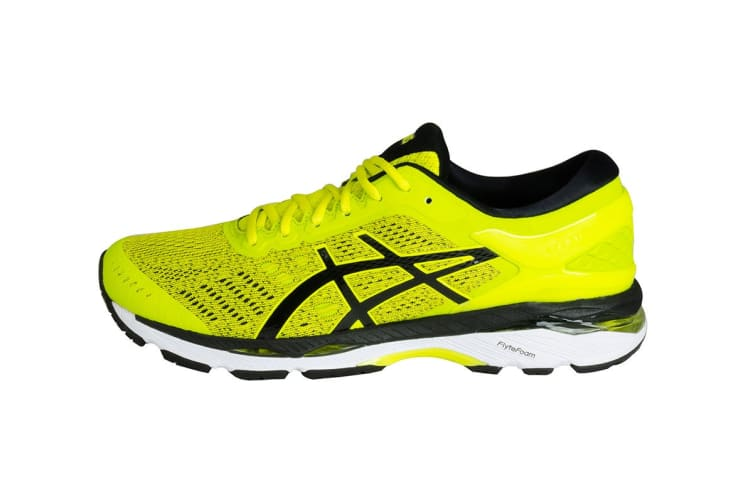 ASICS Men's Gel-Kayano 24 Running Shoe (Sulphur Spring/Black/White, Size 11)