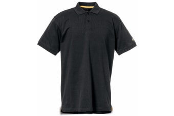 Caterpillar Mens Classic Short Sleeve Polo Shirt (Black)