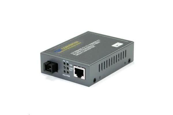 CTS Fast Ethernet WDM Converter TX:1550nm 10/100Base-TX RJ45 to 100Base-FX SC Single-Mode 20Km