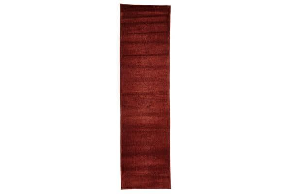 Dense Plain Rust Coloured Rug 300x80cm