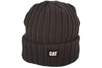 Caterpillar C443 Rib Watch Hat / Headwear (Black)
