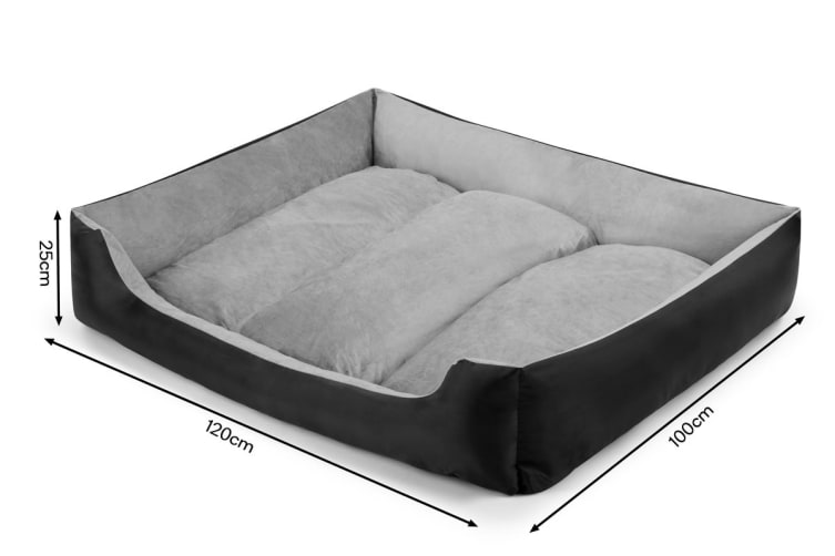 Pawever Pets Deluxe Fleece Dog Bed (X Large)