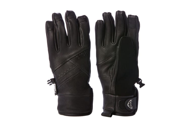 Rojo Girl's Snow Womens Leather Gloves Size L