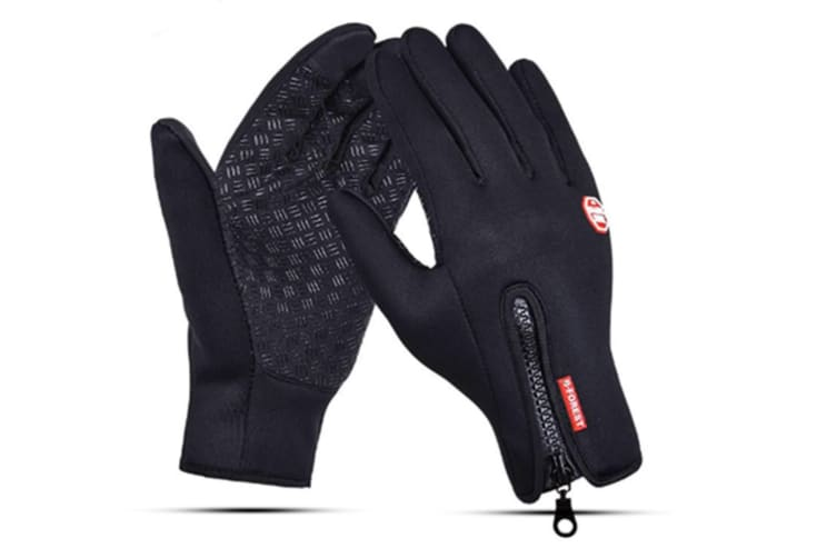 Trendy Outdoor Non-Slip Touch Screen Camping Sports Gloves Black Xl