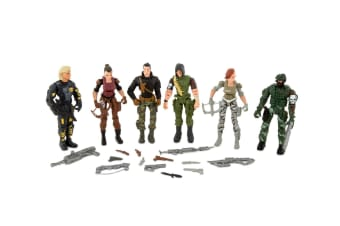 The Corps! 10cm Special Force Unit 6 Figure Face-Off Kids/Children Action Toys