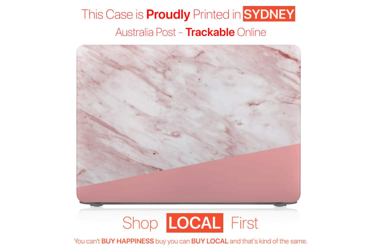 """Hard Case Cover for Apple Macbook Pro 13"""" Inch A1708-Matte Clear-Marble Candy Pink"""