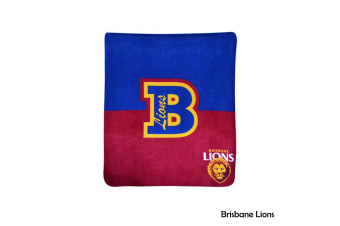 AFL Licensed Polar Fleece Throw Brisbane Lions