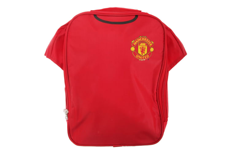 Manchester United FC Official Insulated Football Shirt Lunch Bag/Cooler (Red) (One Size)