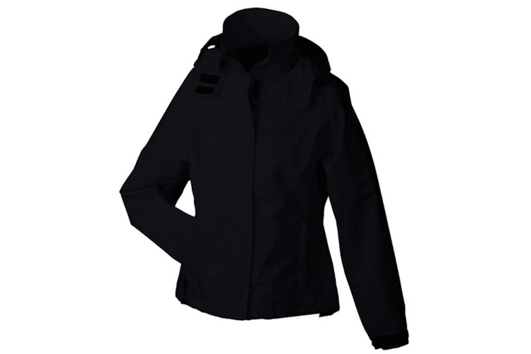 James and Nicholson Womens/Ladies Outer Jacket (Black) (S)