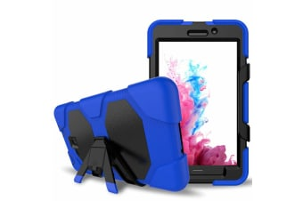 For Samsung Galaxy Tab S3 9.7 T820/T825/T827 ShockProof Hybrid Tablet Case Cover-Blue