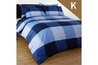 King Size Magic Check Quilt/Doona Cover Set