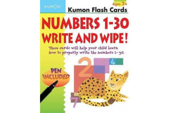 Numbers 1-30 Write & Wipe Flash Cards