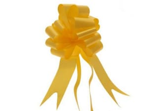 Apac 50mm Block Colour Decorative Pull Bow Ribbon (Daffodil)