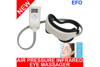 Digital Temple Eye Care Head Massager Air Pressure Infrared Heat Vibration Music