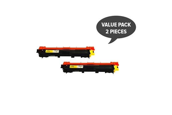 TN-255 Yellow Premium Generic Toner (Two Pack)