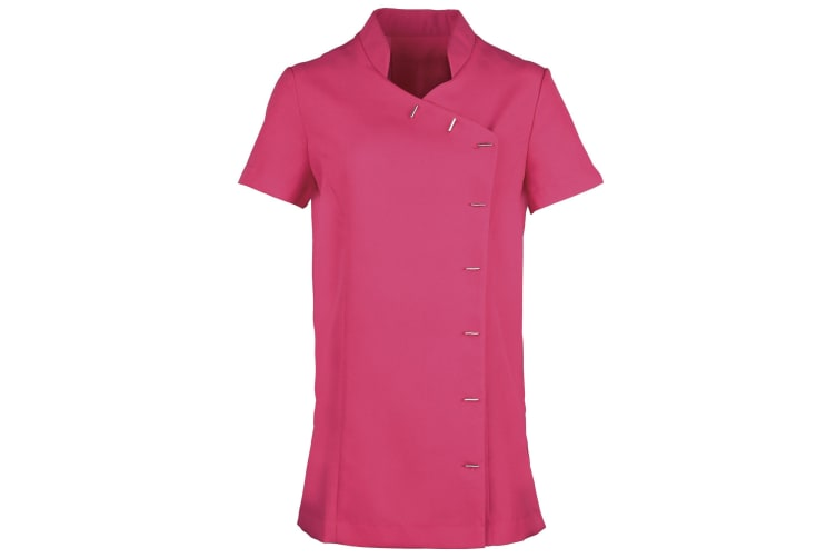 Premier Womens/Ladies *Orchid* Tunic / Health Beauty & Spa / Workwear (Pack of 2) (Hot Pink) (20)