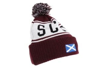 Devoted2style Adults Unisex Scotland Winter Hat (Maroon) (One Size)