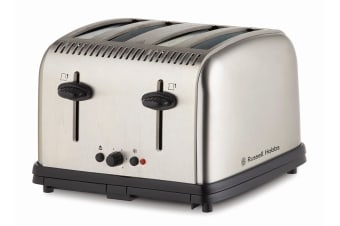 Russell Hobbs Classic 4 Slice Toaster - Brushed (RHT14BRU)