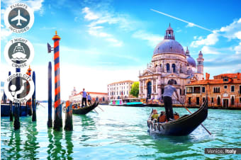 EUROPE: 31 Day Grand European Tour with Mediterranean Cruise Including Flights for One or Two