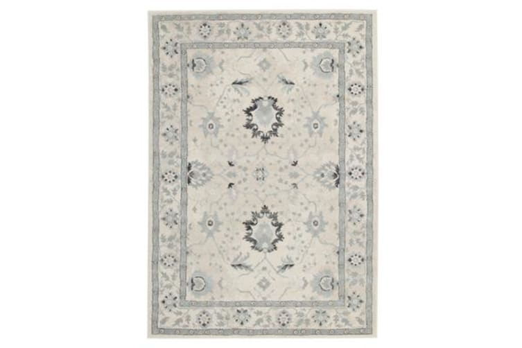 Nain Persian Design Rug Bone Blue Navy 230x160cm