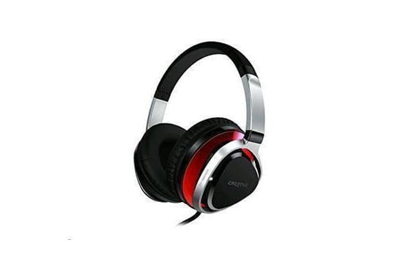 Creative Aurvana Live  2 Headset with 40mm Drivers and In-Line Mic (Red)