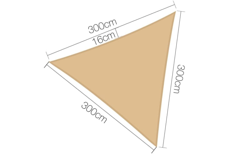 Instahut 3 X 3 X 3m Triangle Shade Sail Cloth