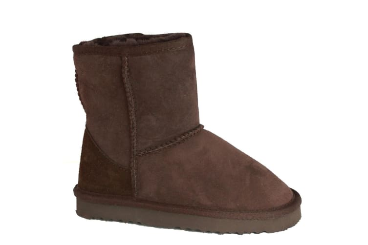 Eastern Counties Leather Childrens/Kids Charlie Sheepskin Boots (Chocolate) (6 Child UK)