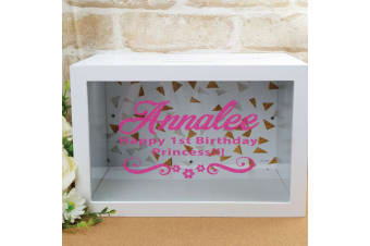 Personalised 1st Birthday Wishing Well Card Box