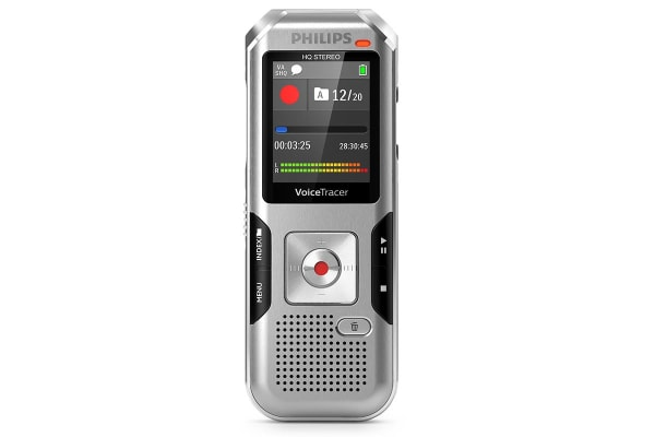 Philips 8GB 3 Mic Voice Tracer Audio Recorder with AutoAdjust (DVT4010)