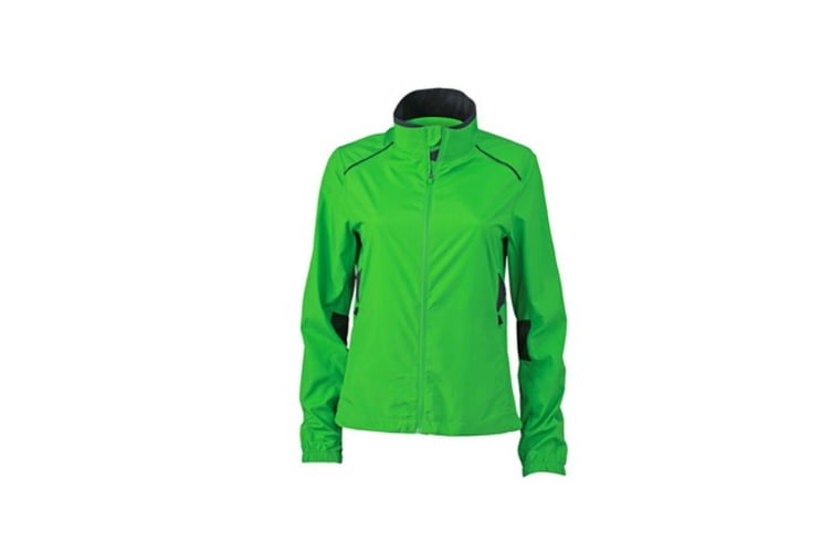 James and Nicholson Womens/Ladies Performance Jacket (Green/Iron Grey) (L)